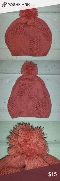 Knit Pom Pom Beanie Super cute peachy pink pom pom beanie! Warm and cosy cotton beanie will brighten up not just your outfit but your life when your head & ears are not longer freezing from the cold weather we have coming😁 Accessories Hats
