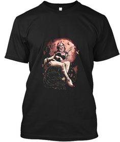 Tattoo Goddess Black T-Shirt Front