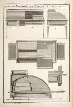 Index Furniture Styles, Furniture Plans, Furniture Making, Furniture Design, French Furniture, Miniature Furniture, Vintage Furniture, Architecture Drawings, Architecture Details