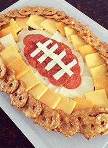 Pretzel Crisps® Football Cheese Platter - Pretzel Crisps®