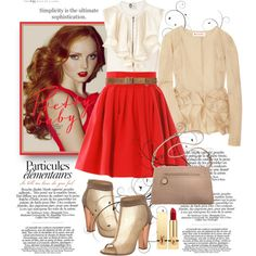 """""""Beauty in Red"""" by regallyblonde on Polyvore"""