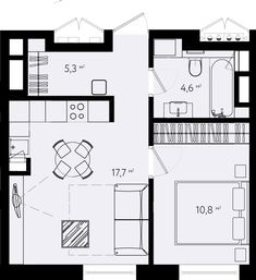 Подбор Small House Layout, House Layouts, Modern House Floor Plans, Small House Plans, Apartment Floor Plans, Bedroom Floor Plans, Lofts, Cabin Design, House Design