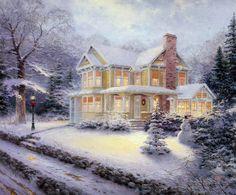 Victorian Christmas III~Thomas Kincaid.