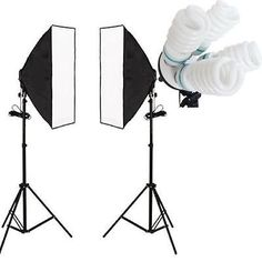 MVPower® 2 x Continuous Lighting Softboxes Kit with 50x70cm Softbox Soft Box Kit+2 Adjustable Light Stand+8x 135W Photograpy Studio Light Bulbs 5500K UK Plug