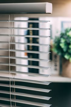 The cordless functionality of these Vinyl Mini blinds, combined with its warp resistant and moisture resistant features = makes these the perfect blinds for any space.