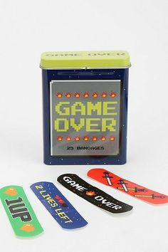 For those real life damage moments... Game Over Band Aids