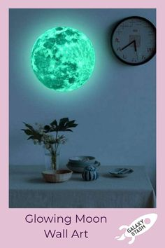 Luminous Moon Wall Art Luminous Moon Wall Art - Imagine being bathed in moonlight while you're still Galaxy Decor, Large Wall Stickers, Trippy Painting, Dorm Rooms, Moon Art, Moonlight, Glow, Wall Art, Space