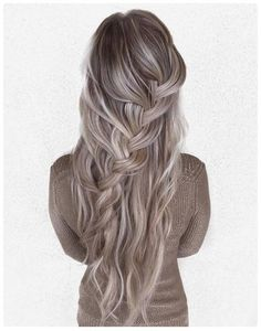 Beautiful blonde and silver hair with loose braids