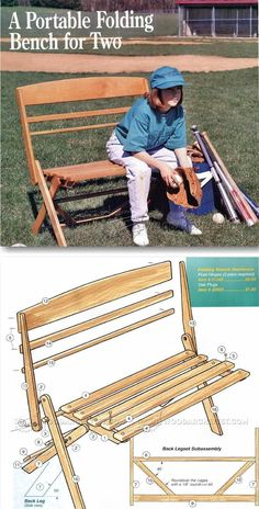 Portable Folding Bench Plans   Outdoor Furniture Plans And Projects |  WoodArchivist.com Furniture Projects