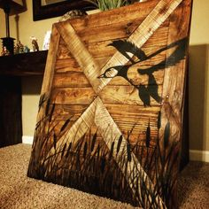 Duck Hunting Wall Decor Wood Sign by MakeYourselfCreative on Etsy