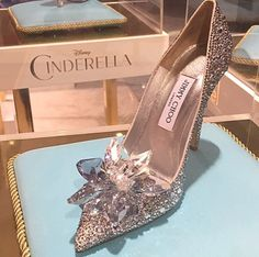 Jimmy Choo  Cinderella Shoe  * DiamondB! Pinned *