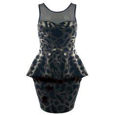 Velvet Sweetheart with Mesh Peplum Dress ($25.99)