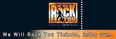 """Mit den fulminanten Rock-Sound wird das """"We Will Rock You Musical"""" München im Deutschen Theater. elektrisieren. Mit Tickets für We Will Rock You erlebst Du 21 der legendären Queen-Songs, wie etwa """"We are the Champions"""" """"Bohemian Rhapsody"""", """"We Will Rock You"""" , welche dem 2014 in München aufgeführten Singspiel einen unvergleichlich fantastischen Sou..."""