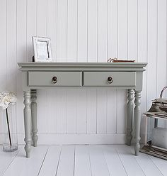 Click For Larger Images Of The French Grey Hall Furniture Console Table Narrow Hallway