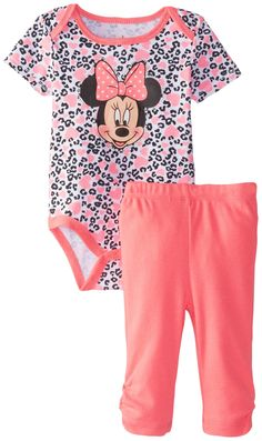 Amazon.com: Disney Baby Girls' Minnie Mouse Bodysuit and Pant Set: Clothing