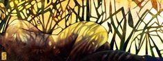 Oil on Linen – 48″x 18″ w/23ct. gold-leafed signature = $5200 - Giclee – 26″ x 9.75″ – 140 lb. Sommerset paper = $210 - Giclee – 13″ x 5″ – 140 lb. Somm...