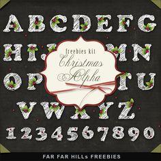 Far Far Hill: New Freebies Kit - Christmas Alpha