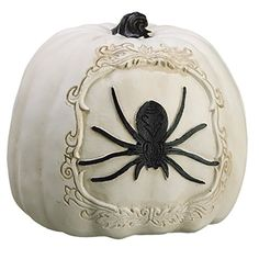 6Hx6W Artificial Spider Pumpkin WhiteBlack pack of 4 ** Details can be found by clicking on the image.