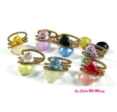 Love Ring, Swarovski Heart Crystal Ring, by ColorMeMissy