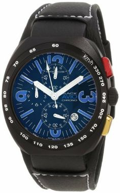 Montres De Luxe Men's AVI-40-CR-N-BLU Avio Aluminum Black PVD Chrono Cuff Watch Montres De Luxe. $411.59. Chronograph function; Sub-second. Aluminium anodized case. Convex mineral antireflective crystal. Water-resistant to 99 feet (30 M). Luminious hands and indexes; Tachymeter. Save 61% Off!