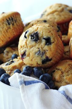 Healthy Greek Yogurt and Honey Blueberry Muffins (coconut oil, whole wheat flour/white flour, yogurt)
