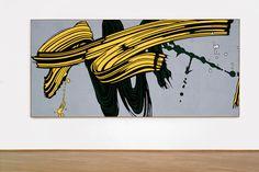 """""""Yellow and green brushstrokes"""", 1966, by Roy Lichtenstein"""