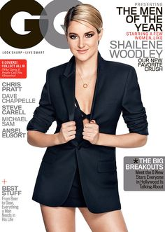 • Shailene Woodley is so amazing that she covers GQ MEN of the year cover! You go, girl •