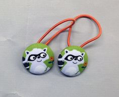 1 1/8 Size 45 Green/Grey/Black Raccoon with Orange by RatDogInk, $6.00