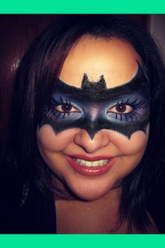 My version of a bat mask ♥ {Halloween makeup} ^▽^ | Jenny V.'s (BeautyByJennyVazquez) Photo | Beautylish