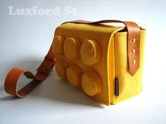 Denim LEGO purse, LOL! Ladies, would you carry this for nostalgia's sake? ;)