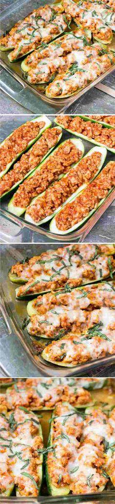 CHICKEN PARMESAN ZUCCHINI BOATS - black pepper, cheese, chicken, healthy, mozzarella, parmesan, pasta, recipes, zucchini