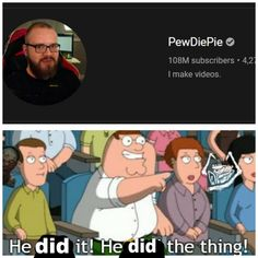 He did it. Full credits to u/ aim__headshot Made Video, Pewdiepie, Text Posts, Fan Art, Books, Text Messages, Libros, Book, Book Illustrations