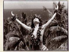 "Kim Taylor Reece ""Ha'ena"" 11 X 14 Double Matted Hawaiian Hula Print - New Polynesian Dance, Polynesian People, Polynesian Culture, Kim Taylor Reece, Hawaii Hula, Aloha Hawaii, Tiki Art, Female Dancers, Island Girl"