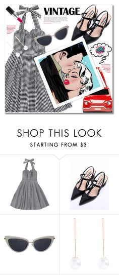 """vintage"" by svijetlana ❤ liked on Polyvore featuring Kate Spade, MAC Cosmetics, vintage, vintagedress and zaful"