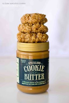 No Bake Speculoos Oatmeal Cookies - the most delicious cookies- made with Speculoos cookie butter!