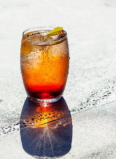 Cricket Ball: So named because the drink's hue matches the color of a traditional cricket ball, this drink uses Lillet Rouge, the too-often-overlooked sister spirit of the more popular Lillet Blanc. Rhubarb bitters add an unexpected sour note that cuts through the prosecco bubbles.