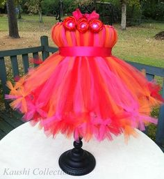 Check our websitehttp://kaushicollections.com/     No sew for this ribbon tie Peacock Tutu dress.       For this Tutu dress take 4 colors...