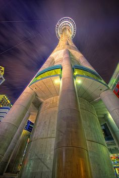 Auckland Sky Tower, Auckland, New Zealand. Tallest building in the Southern Hemisphere. Unusual Buildings, Amazing Buildings, Amazing Architecture, Building Architecture, Modern Architecture, Auckland, The Places Youll Go, Places To See, Australia