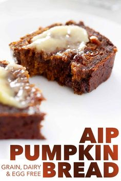 AIP Pumpkin Bread Pumpkin and raisins are a classic food combination. Now you can enjoy them in this AIP Pumpkin Bread that's filled with warming spices like cinnamon and ginger. This recipe fits the Paleo and AIP diets. Paleo Recipes, Dessert Recipes, Desserts, Paleo Food, Paleo Meals, Paleo Diet, Food Deserts, Junk Food, Dairy Free Bread