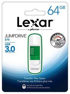 Chollo Pendrive Lexar JumpDrive S75 3.0 de 64 GB por sólo 17.90€