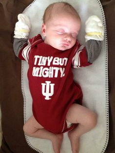 """""""Mom and sister are Hoosiers! They're training Josh very young!"""" #Hoosiers"""