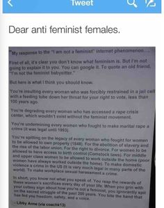 Even if you decide to be a low-key feminist at first because you're afraid of stereotypes and radicals, and you likely mistakenly feel like it goes it against your values or political party (it actually doesn't go against very many people's true values; they are usually just uninformed - I was one of those people), studying feminism is worth it for at least the sake of your own rights.