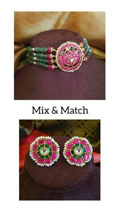 Mughal Jewelry, Indian Jewelry Earrings, Indian Jewelry Sets, Silver Jewellery Indian, Jewelry Design Earrings, Gold Jewellery Design, Necklace Designs, Beaded Jewelry, Gold Jewelry