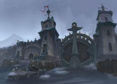Kul Tiras Great Gate Art from World of Warcraft: Battle for Azeroth #art #artwork #videogames #gameart #conceptart #illustration #worldofwarcraft #battleforazeroth #wow #environmentdesign Warcraft Film, World Of Warcraft, Ocean Storm, Night Elf, Forest Creatures, Best Fishing, Environment Design, The Visitors, Art World
