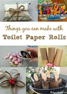 Things you can make with toilet paper rolls. Great crafts to do with kids that are inexpensive and fun to do!!