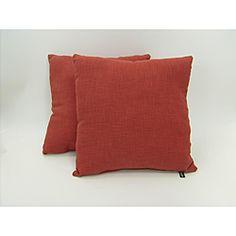 Grafton Cranberry Throw Pillows (Set of 2)