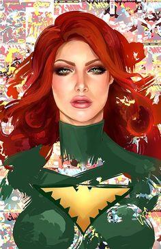 Phoenix (Jean Grey) by Whitney Jiar