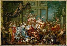 Johann Georg Platzer - The battle between centaurs and Lapiths,