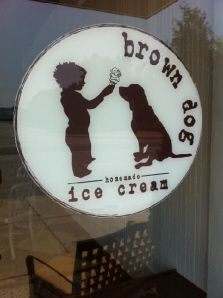 Homemade, small batch ice cream - doesn't get fresher (or better) than brown dog!