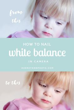The quick and easy way to get your white balance right in camera every time!